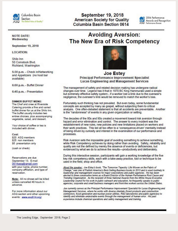 Eastern Washington Chapter of the Academy of Certified Hazardous ...